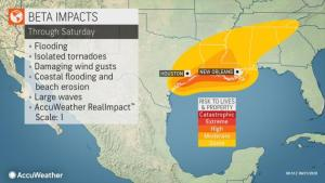 Beta to unleash days of flooding rainfall, pounding surf from Texas to Louisiana