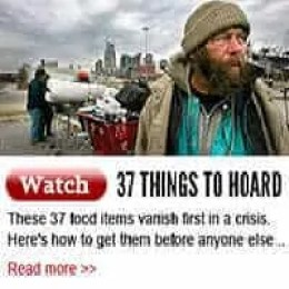 Things to hoard during a crisis