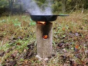 improvised survival cooking