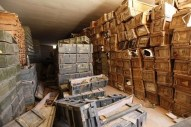Stockpiles of ordnance inside a Gaddafi ammunition bunker which is now controlled by rebels are seen southeast of Zintan