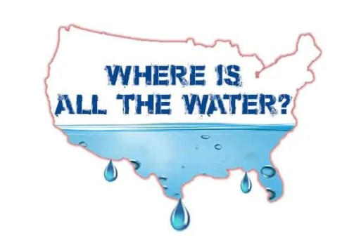 Where is all the water
