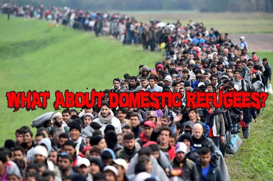 Domestic refugees are also a problem