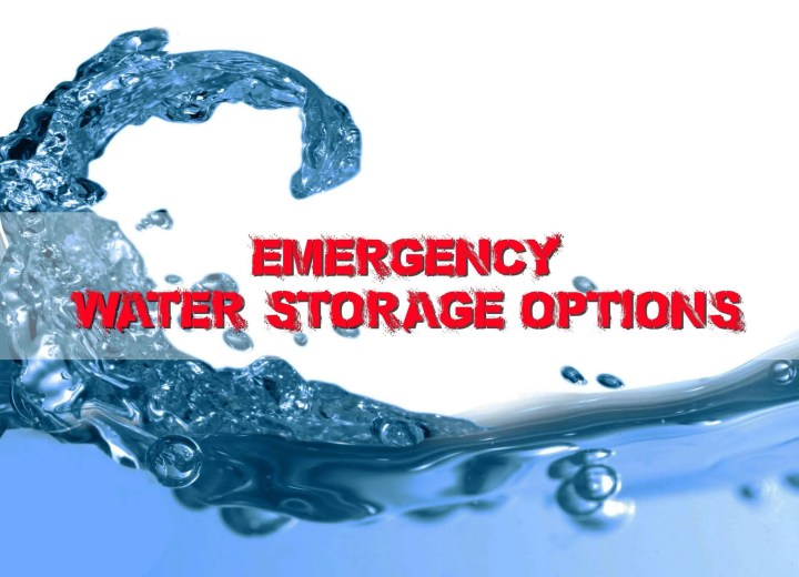 Prepper's Will - Emergency Water Storage Options