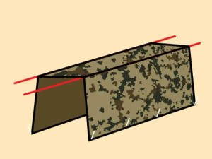 Prepper's Will - Square Arch tarp shelter