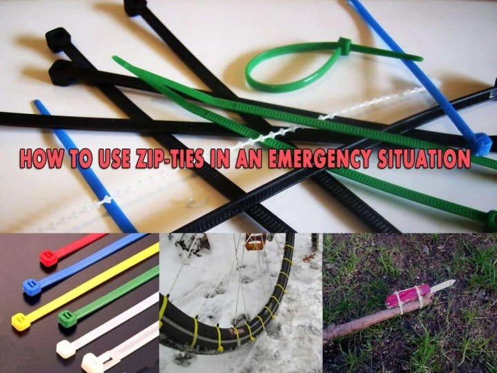 Prepper's Will - How to use zip-ties in an emergency situation