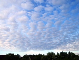 Predict the weather using clouds - Altocumulus Clouds
