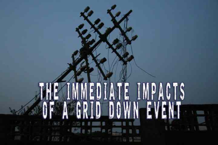 The immediate impacts of a grid down event
