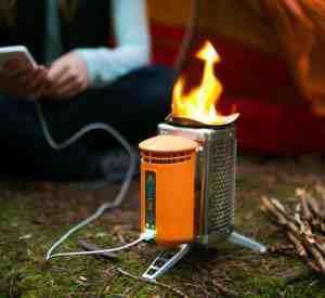 Biolite wood burning camping stove