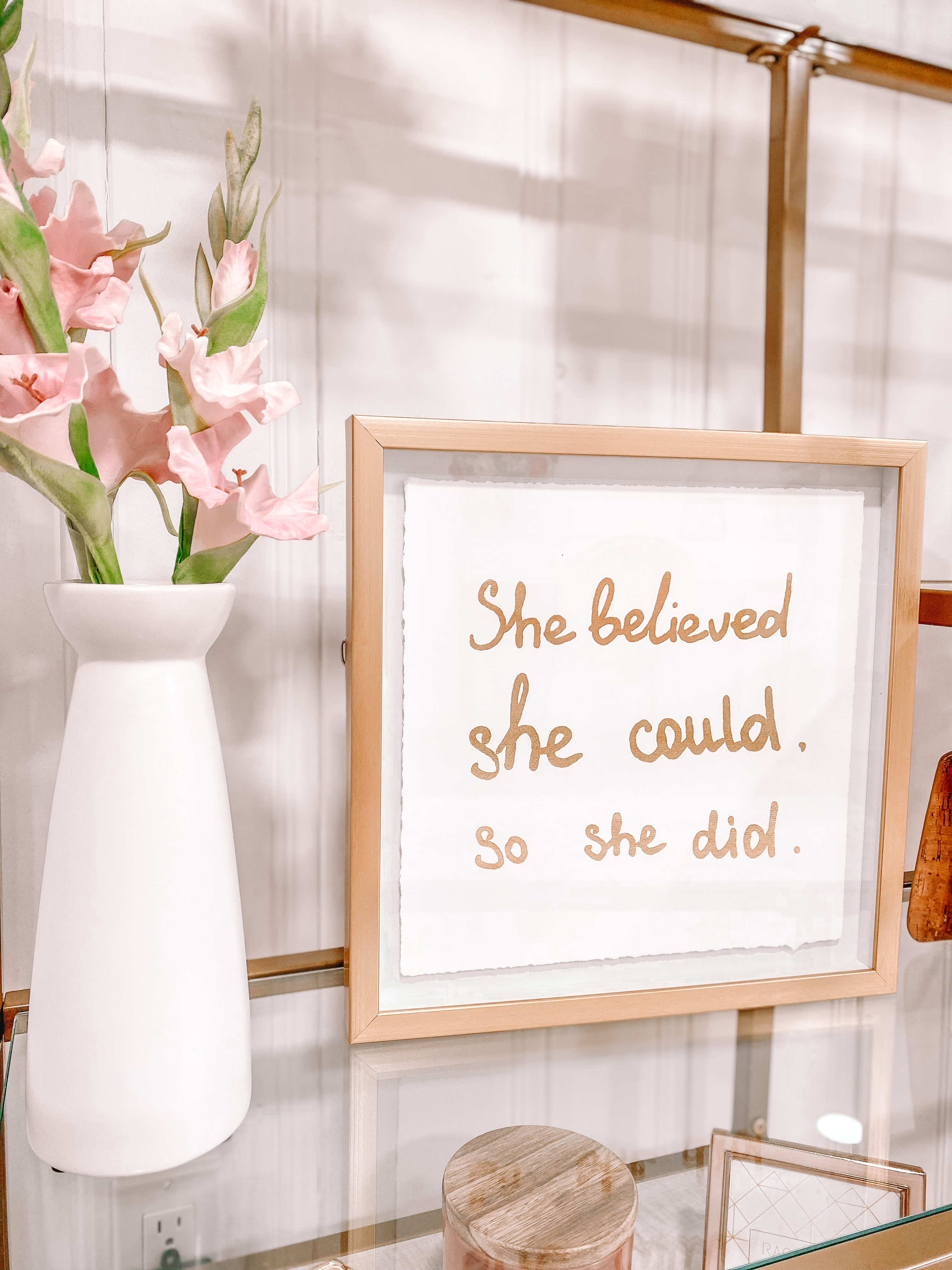 she believed she could so she did office sign