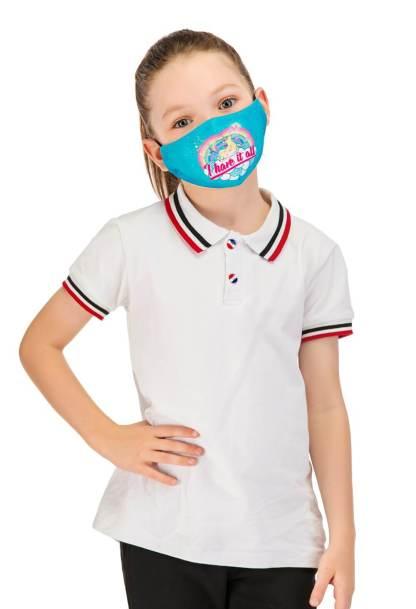 Gesichtsmaske Kinder Einhorn