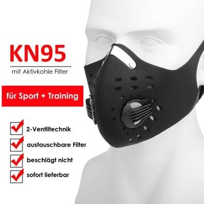 Sport und Trainingsmaske