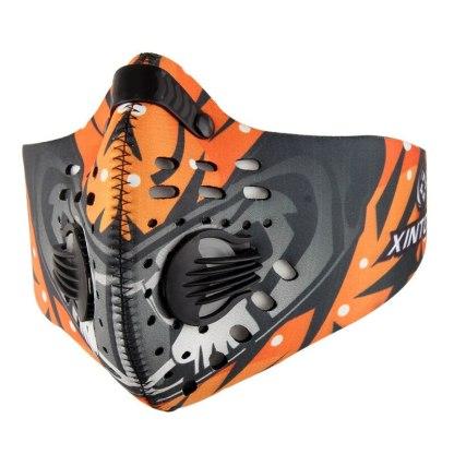Sport und Trainingsmaske mit Ventil - Orange