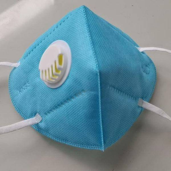 Gesichtsmaske mit ventil - blau