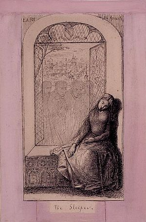 Image result for rossetti the sleeper
