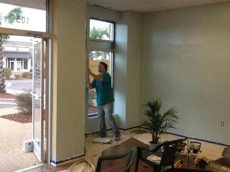 Preparing the worship space
