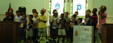 Skits are performed by the Children