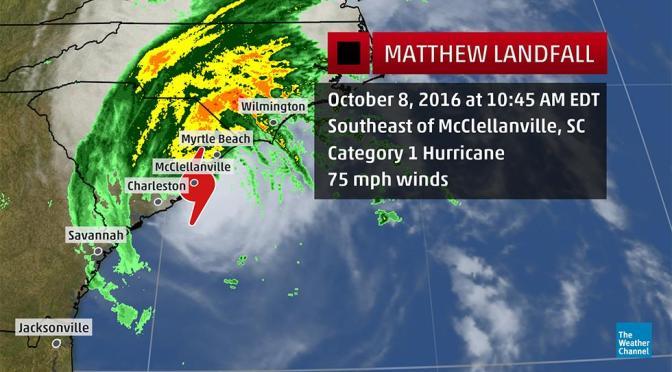 Hurricane Matthew Update & Invitation