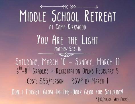 Middle School Retreat Promo