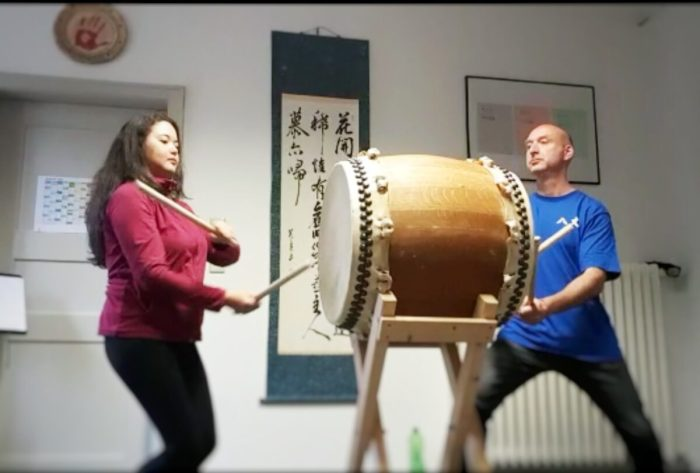Hachijodaiko, Lumiko Oiye und Andreas Prescher