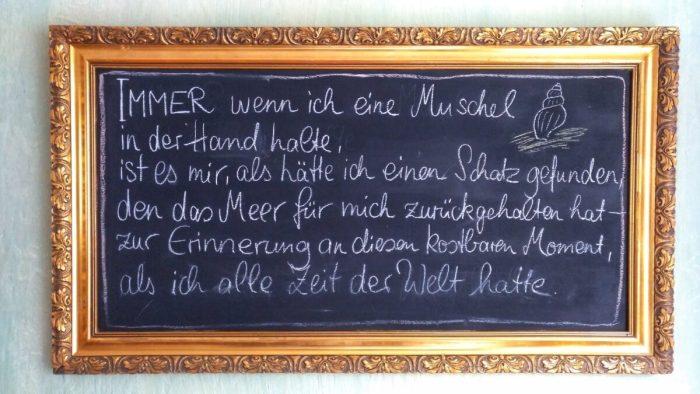 Kreide Tafel in Café Anticus