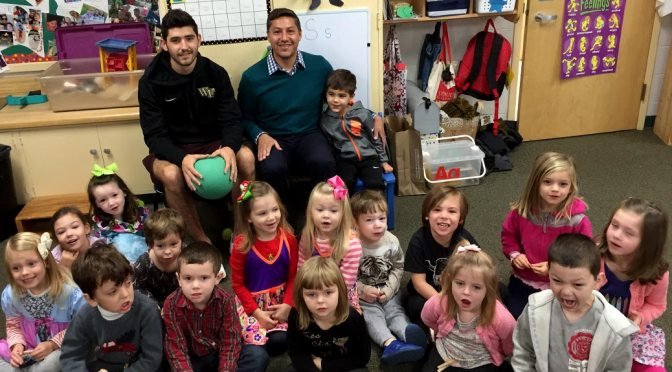 Soccer Coach and Player Visit Stars
