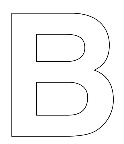 Worksheets Large Letters To Print And Cut Out letter b template your at 10 from 39 votes 1 40
