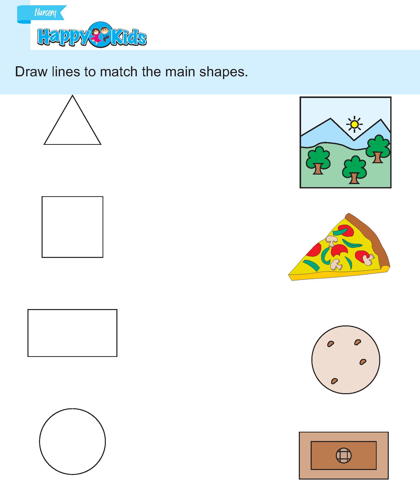 Preschool Skill Match The Same Shape