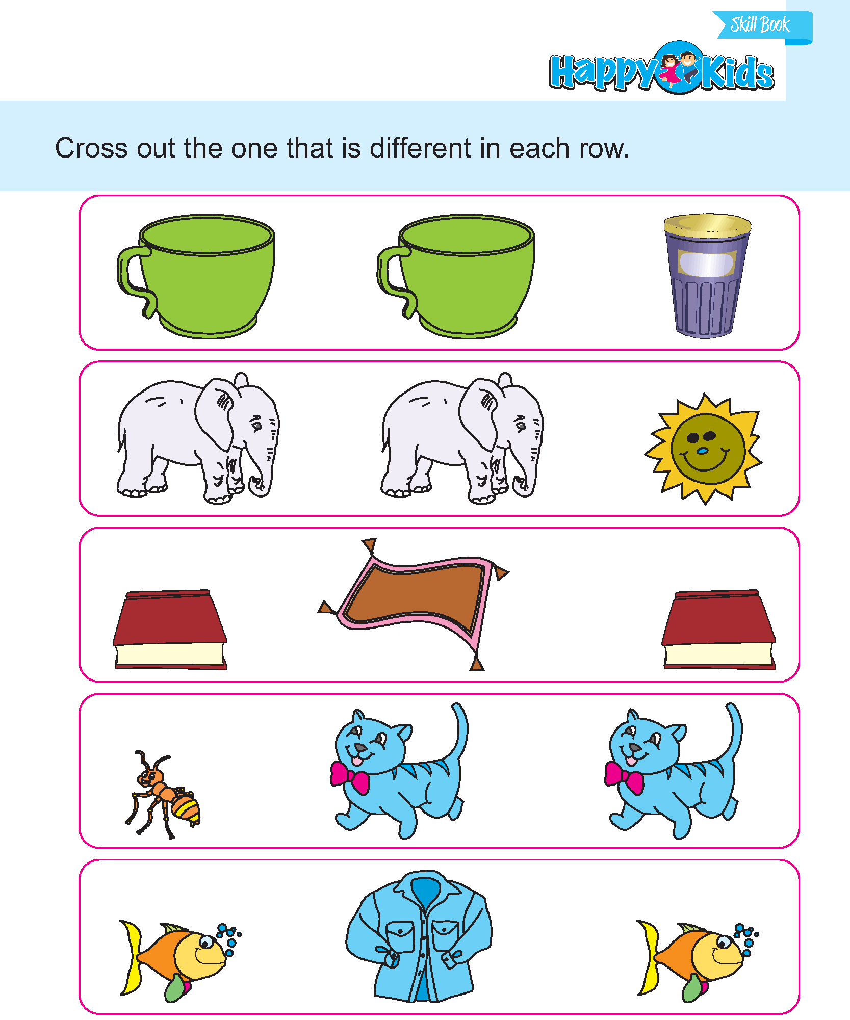Preschool Skill Cross Out The Different