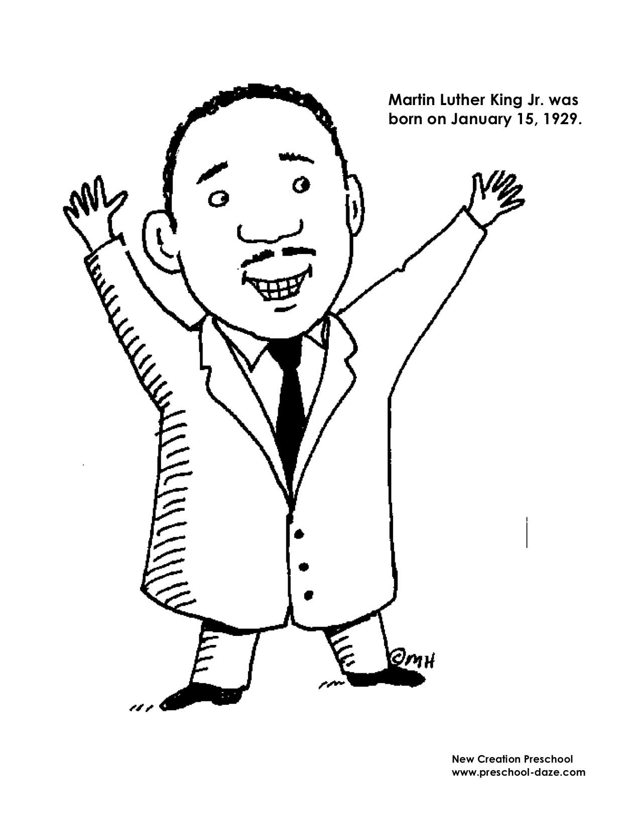 M Is For Martin Luther King Jr Printables New Creation Preschool