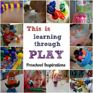 This is Learning Through Play by Preschool Inspirations