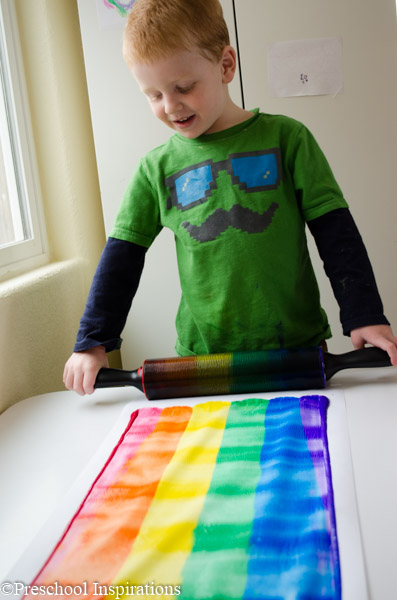 Rainbow Rolling Pin Art by Preschool Inspirations-7