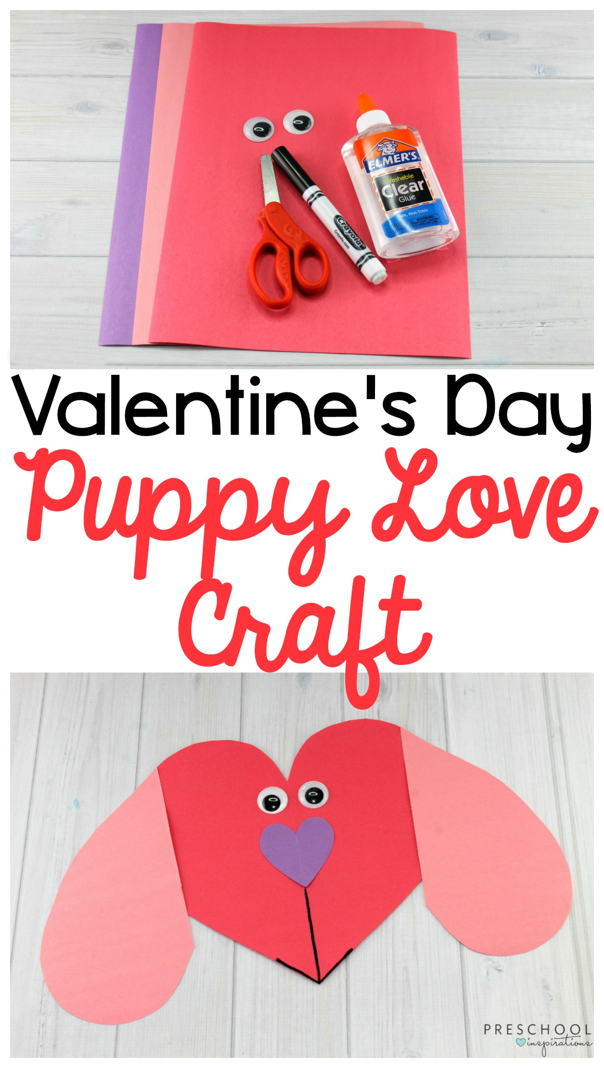 Puppy Love Preschool Heart Craft To Make This Valentine S Day