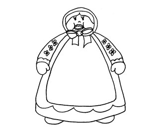 Old Lady Who Swallowed A Fly-Circle Time Printable