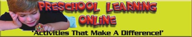 Preschool Learning Online.com Main Website Page