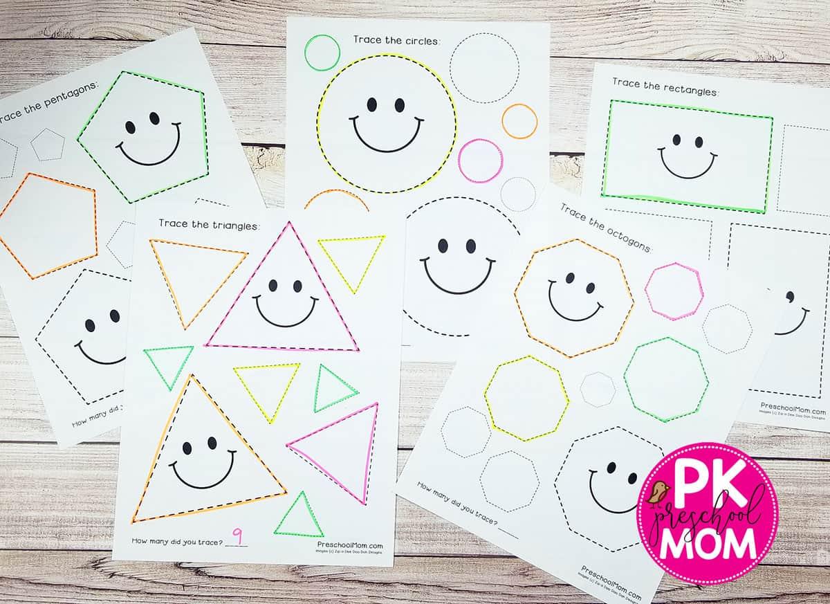Preschoolshapesworksheets