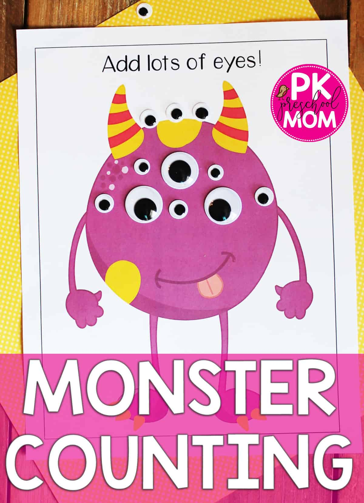 Monster Preschool Printables