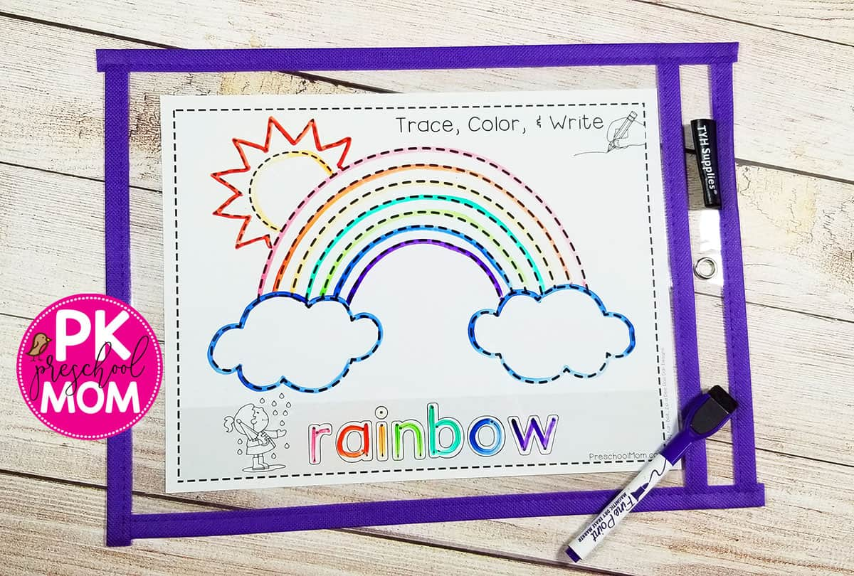 Rainbowtracingworksheet
