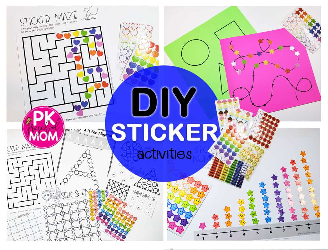 Fine Motor Skills With Stickers