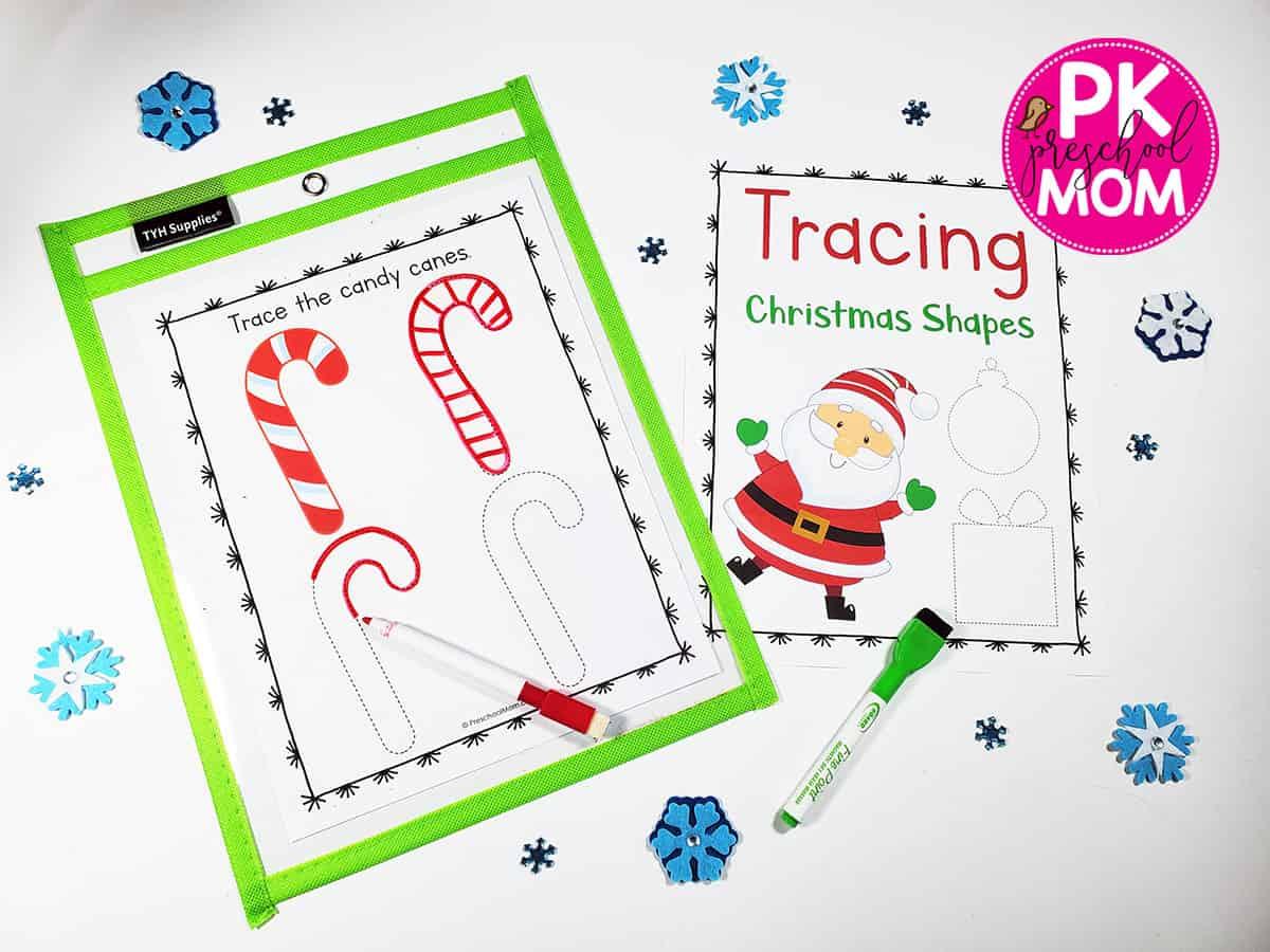 Holidaytracingworksheet