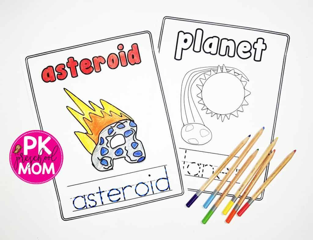 Space Alphabet Worksheets