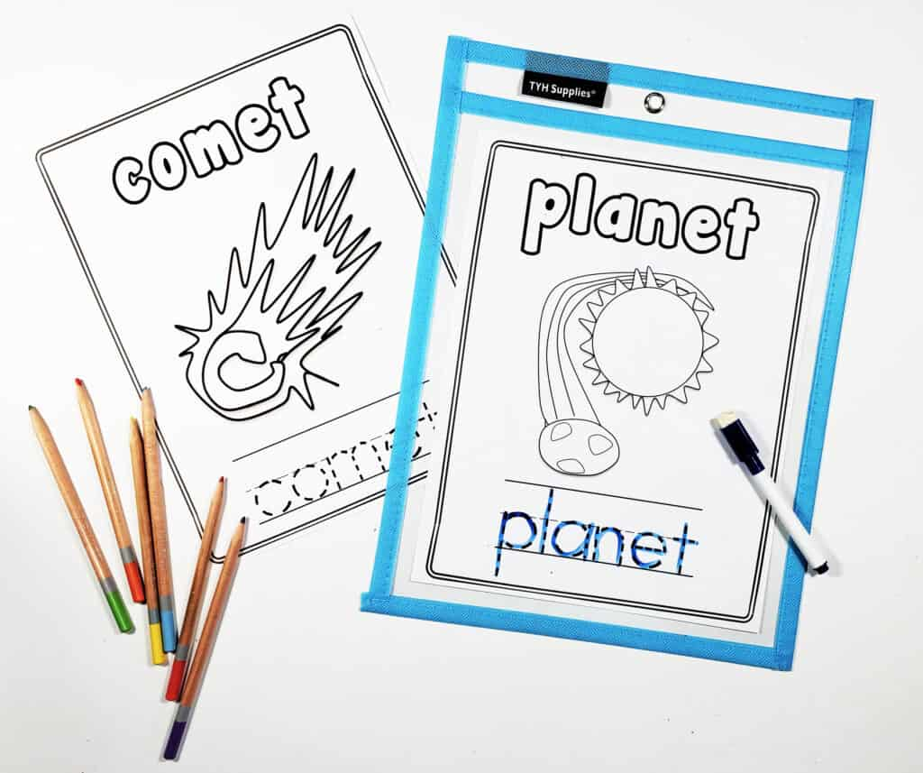 Space Alphabet Worksheets