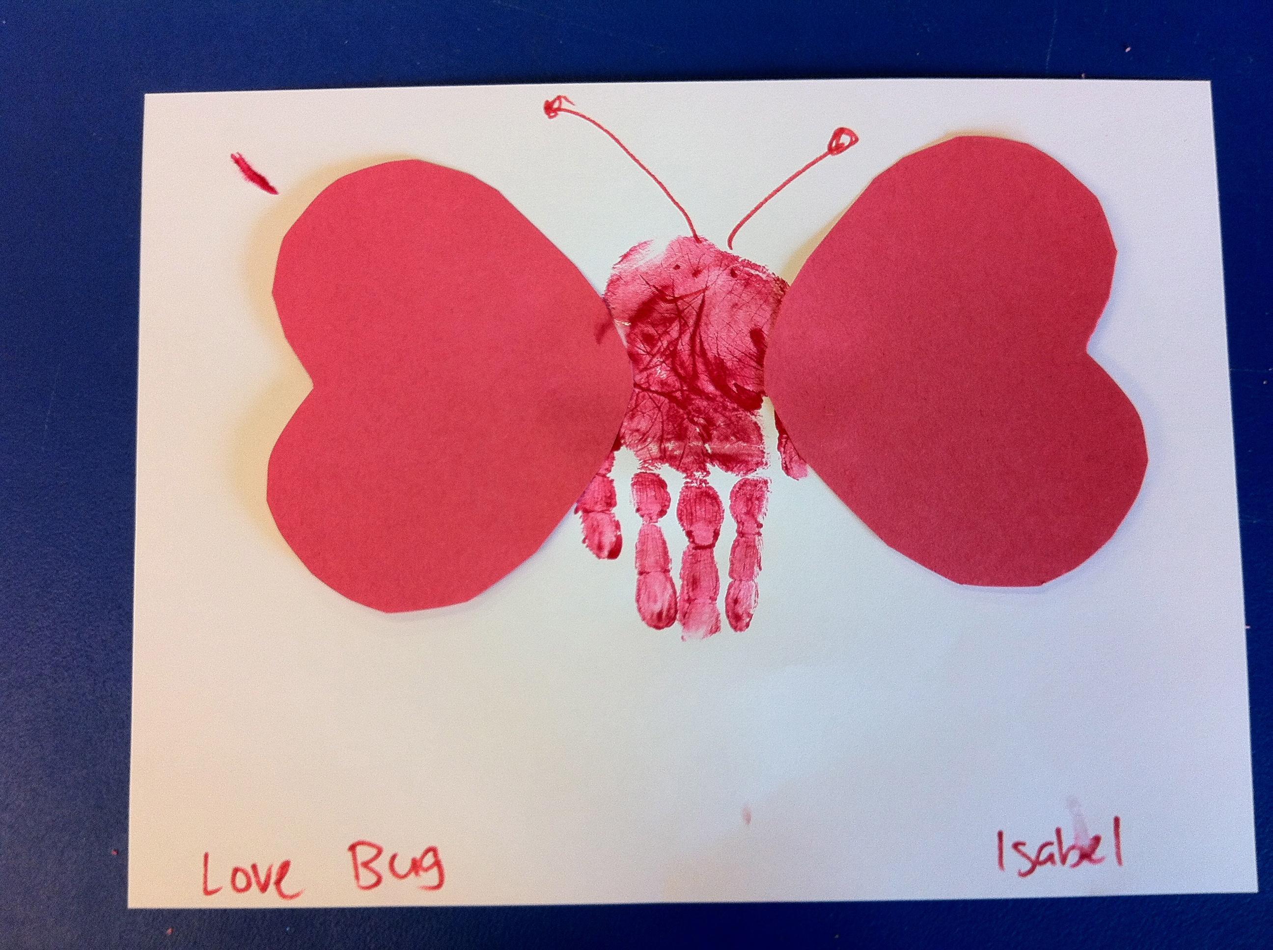 Preschool Crafts For Kids Valentine S Day Hand Print Butterfly Craft