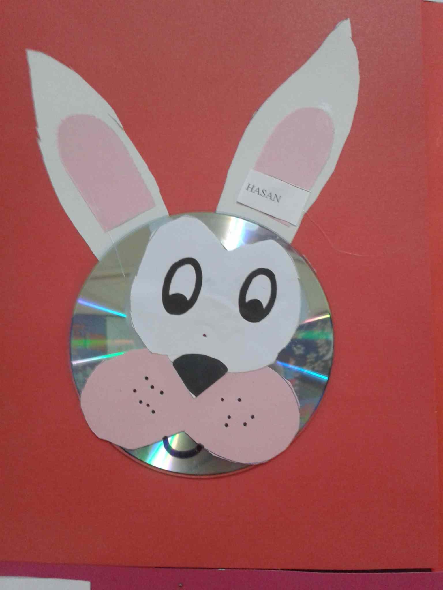 Cd Bunny Craft Idea For Kids 1 Preschoolplanet