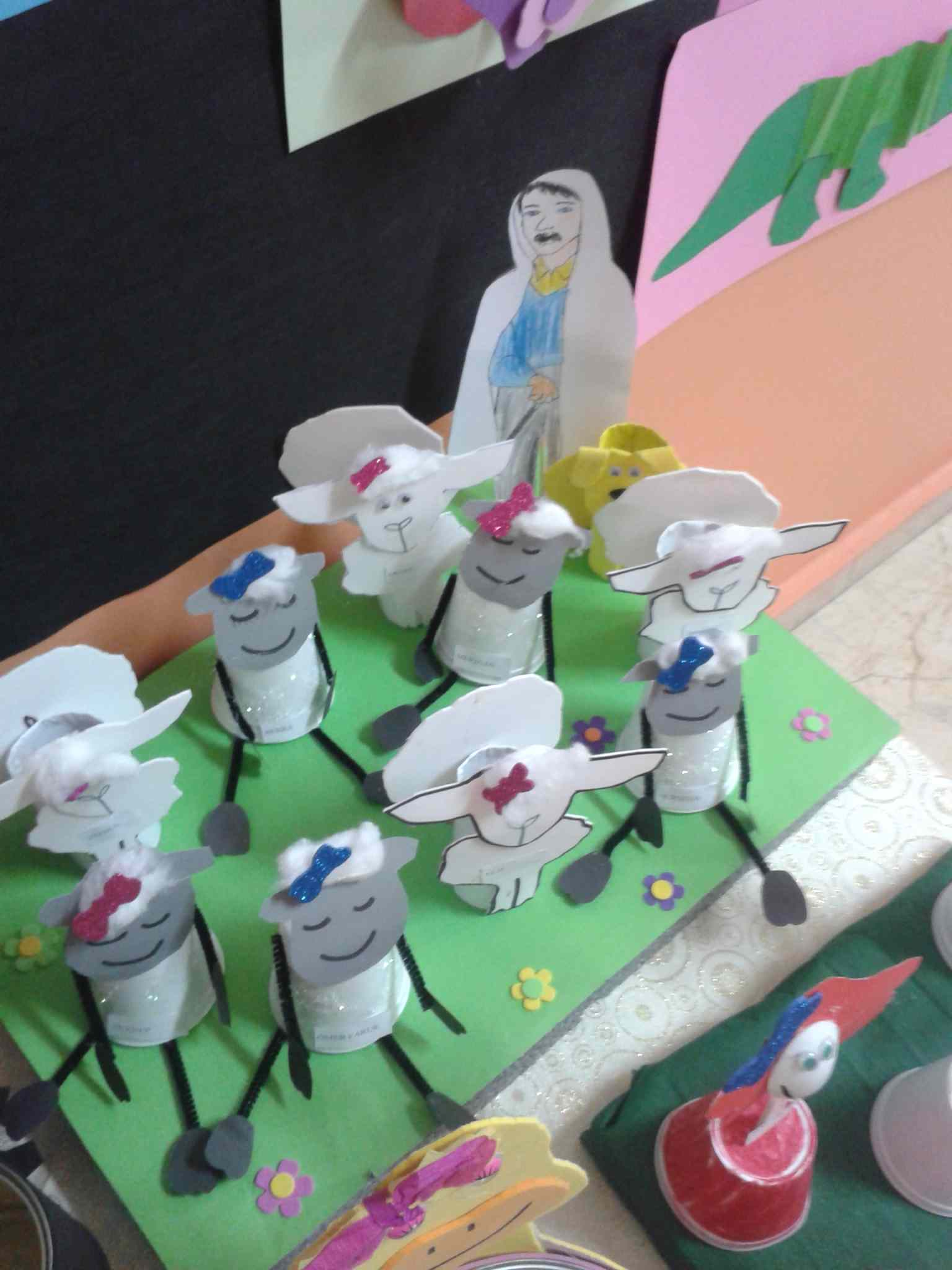 Toilet Paper Roll Sheep Craft Preschoolplanet