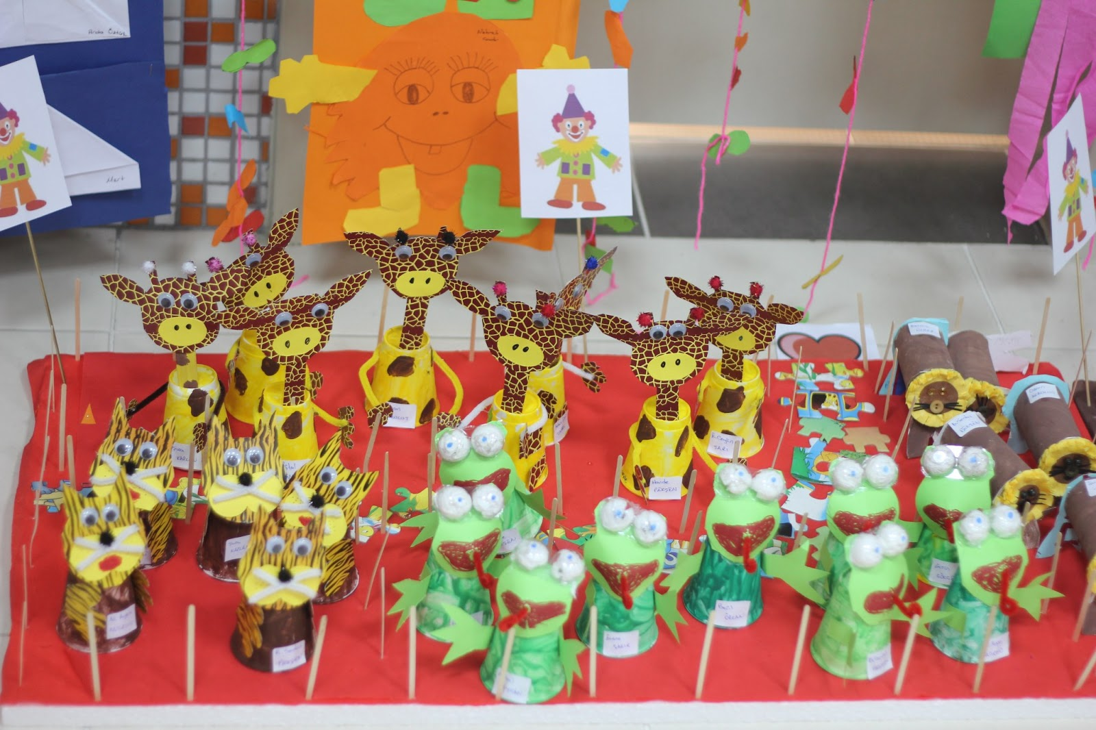 Paper Cup Giraffe Craft Idea Preschoolplanet