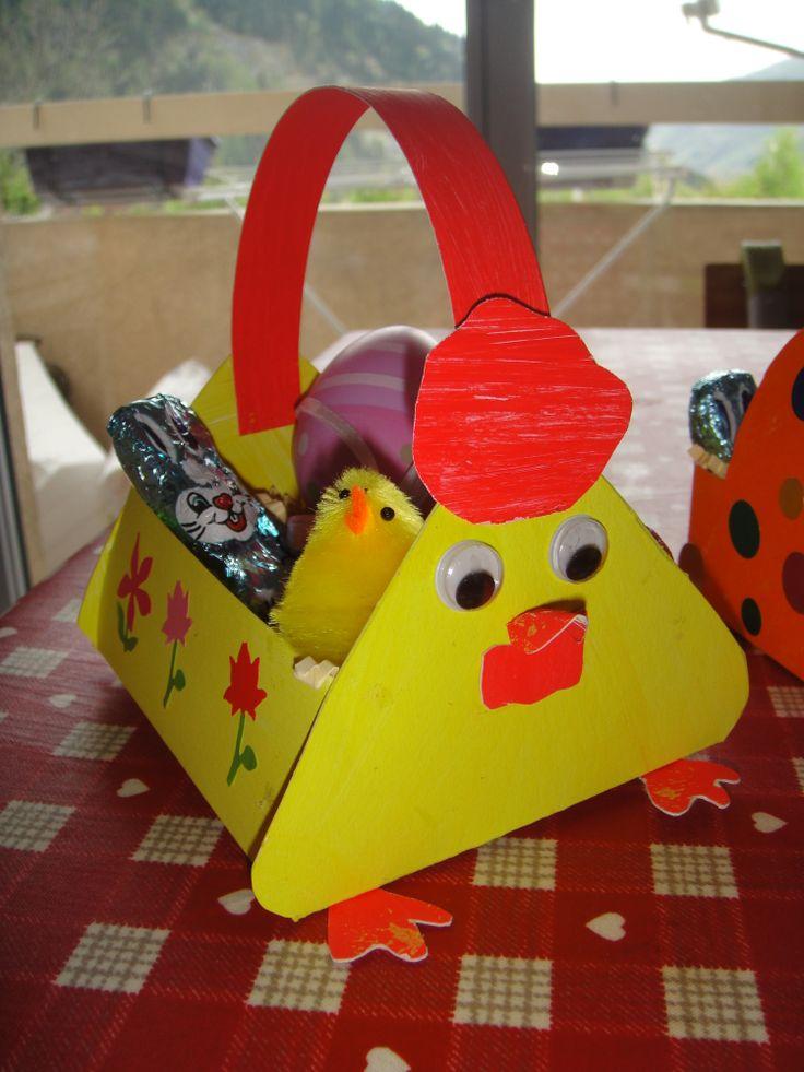 Easter Egg Basket Craft Idea For Kids