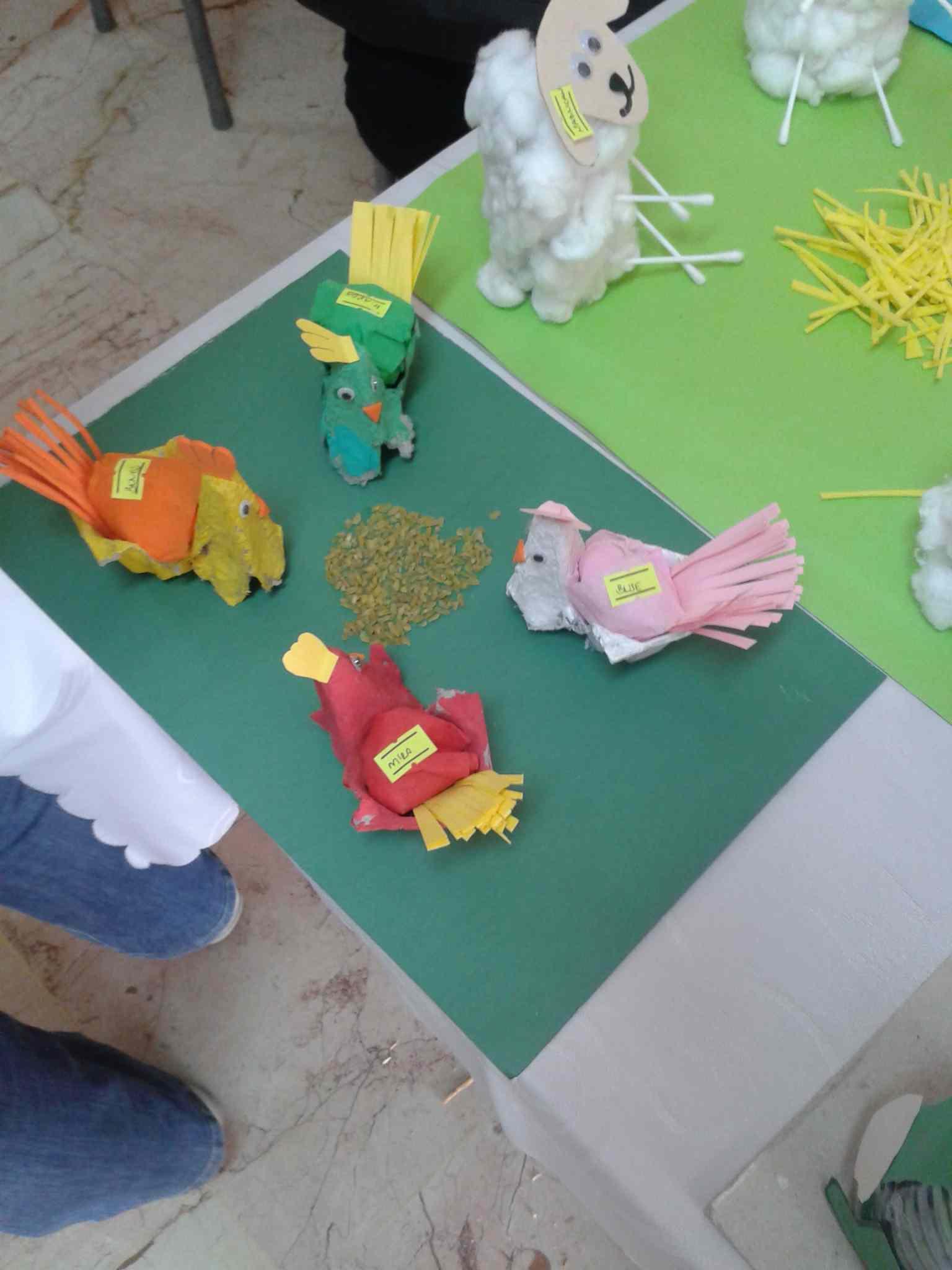 Egg Carton Chicken Craft Idea Preschoolplanet