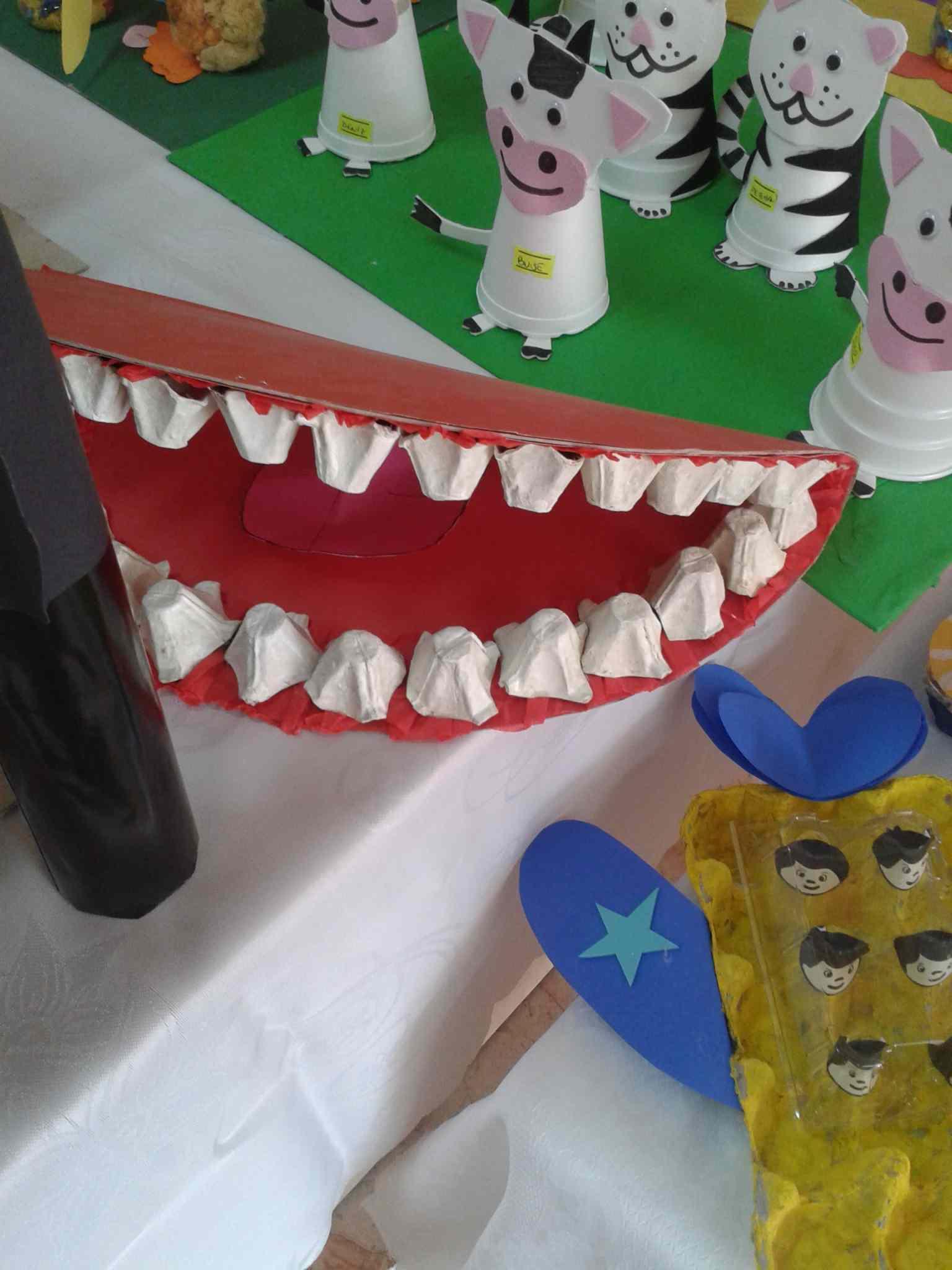 Egg Carton Tooth Craft Idea Preschoolplanet