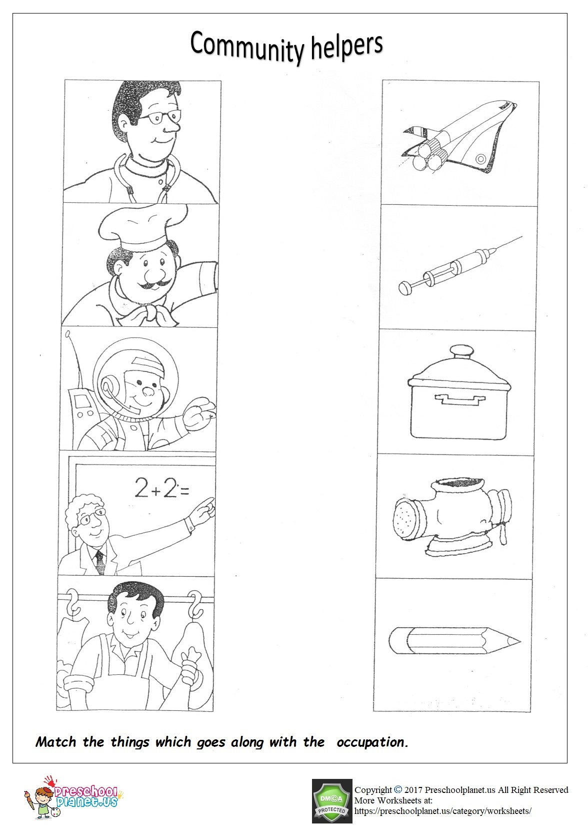 Worksheet Occupation Preschool