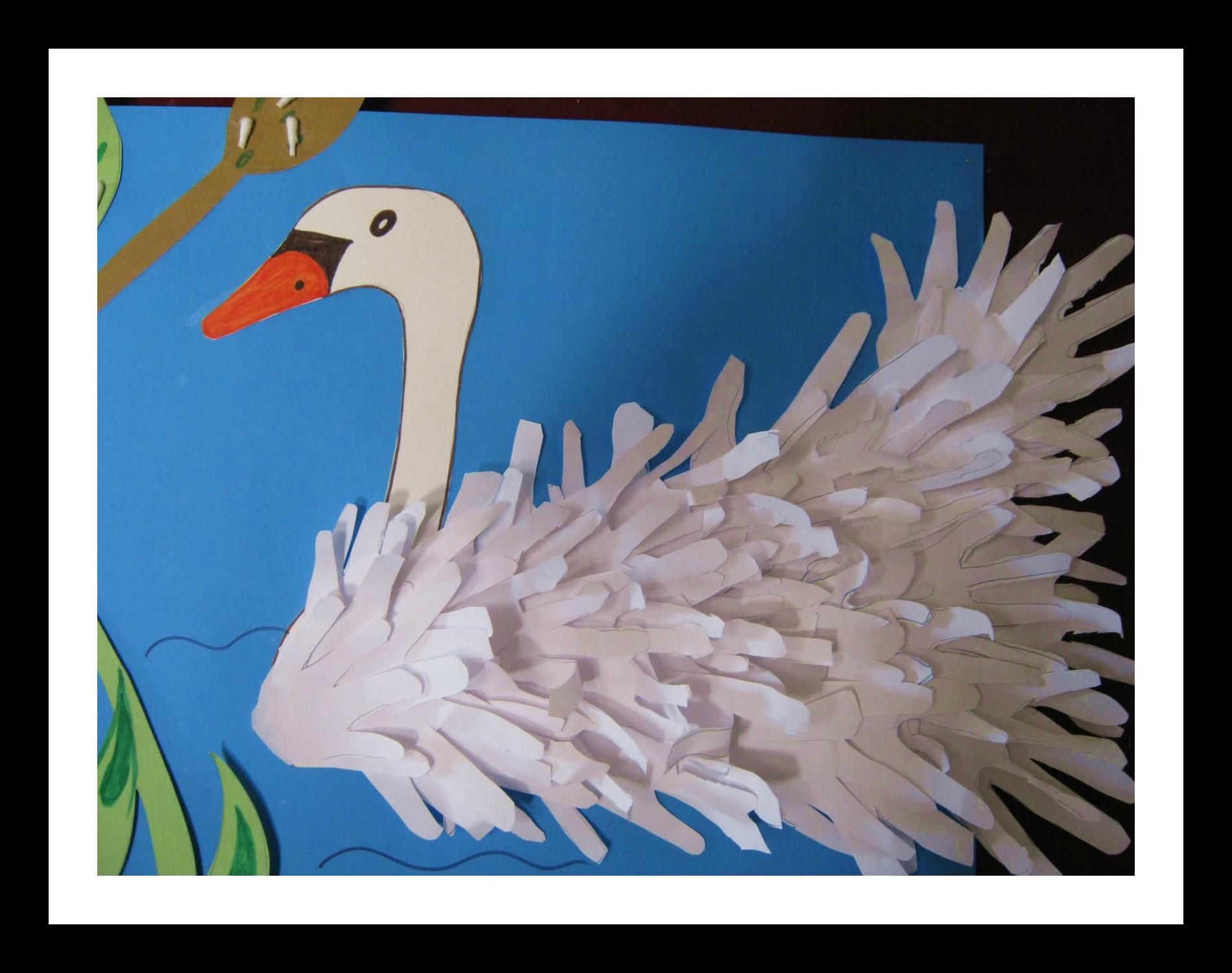 Handprint Swan Idea For Kids Preschoolplanet